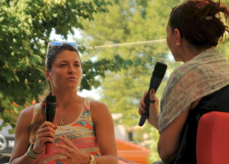 Alexandra Dulgheru, la BRD Tennis Insider pe Treizecizero.ro. Foto: Farid Abasi