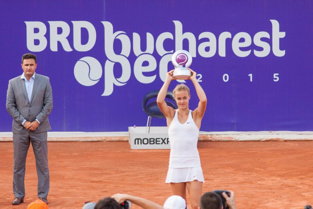 Anna Karolina Schmiedlova la BRD Bucharest Open. Foto: Dan Călin/Treizecizero.ro
