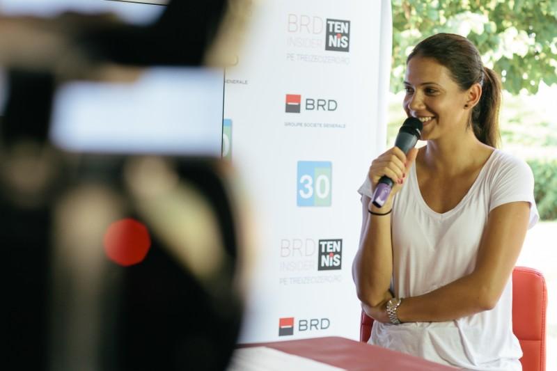 Raluca Olaru la BRD Tennis Insider, pe Treizecizero.ro. Foto: Vlad Vișinescu