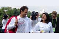 Când fericirea se regăsește tot în tenis. Cum a trăit Beatriz surpriza oferită de Roger Federer | video